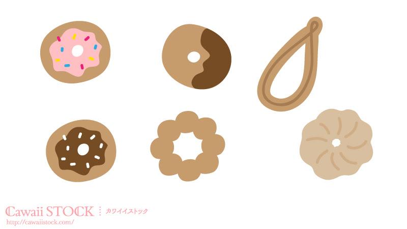 ドーナツのイラスト カワイイストックフリー素材配布サイト