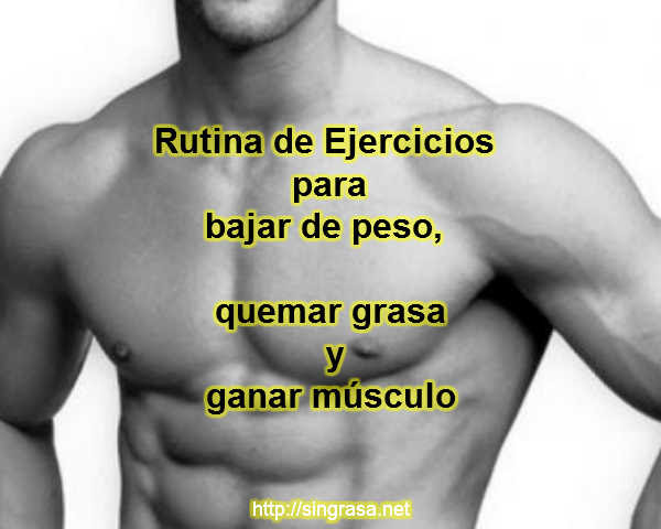 ejercicios para bajar de peso rapido para hombres