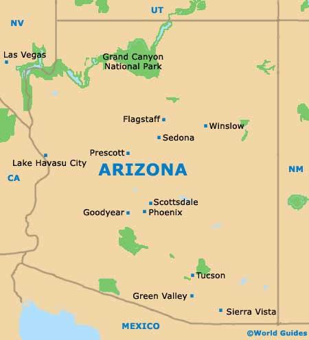 Arizona Map Grand Canyon Googlesaki