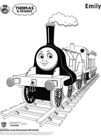 Emily From Thomas Friends Coloring Page Free Printable Coloring