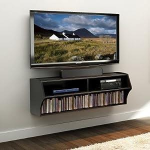 Amazon.com - Prepac Altus Wall Mounted Audio/Video Console, Black