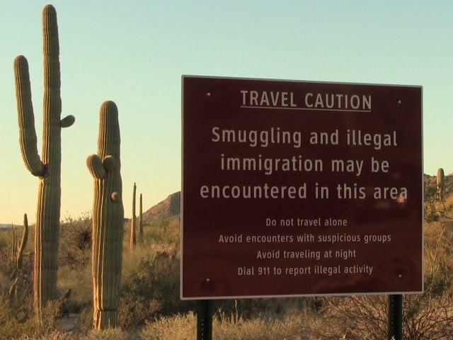 Border Sign in Arizona