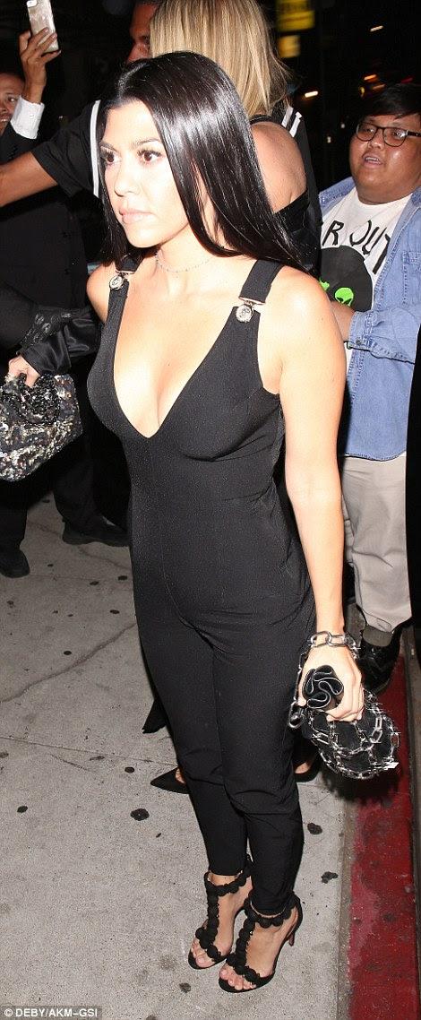 Plunging Beauties! Khloe and Kourtney Kardashian Flashes Some Serious Flesh At Gigi Hadid's Birthday Bash...