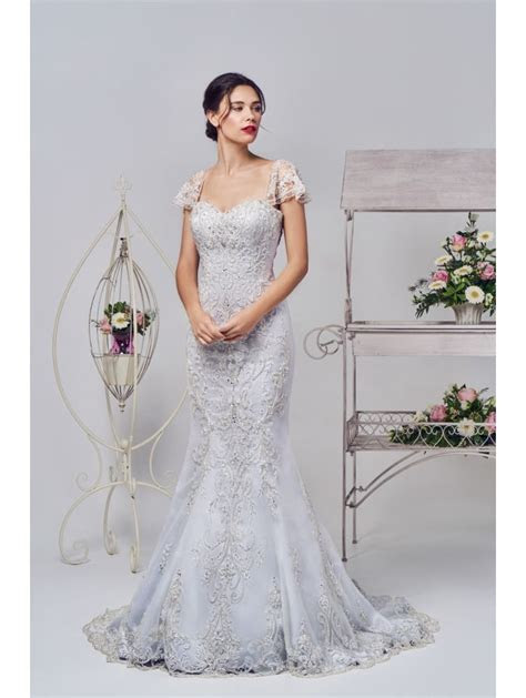 Phoenix Gowns 16327 Silver Lace Bridal Gown