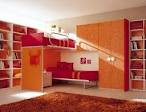 Contemporary Fresh Orange Bedroom Interior Galleries and Ideas ...