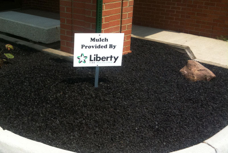 Black Rubber Mulch from RubberScapes