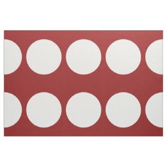 White Polka Dots on Red Fabric