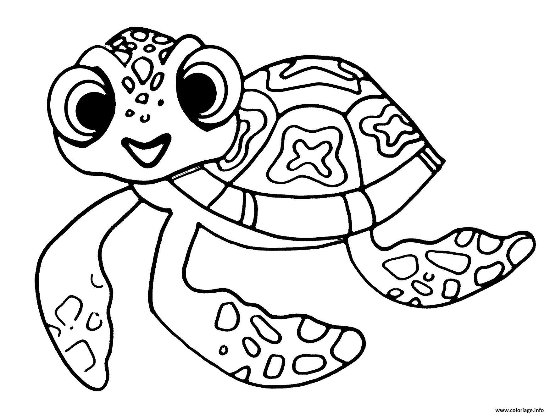 Coloriage Squirt Petite Tortue De Nemo Et Dory Jecoloriecom