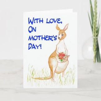 Kangaroos Mother's Day Card card