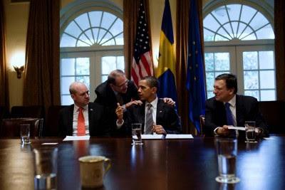 Em Novembro, Obama e Barroso voltarão a encontrar-se numa cimeira, a primeira em solo europeu. Foto Casa Branca