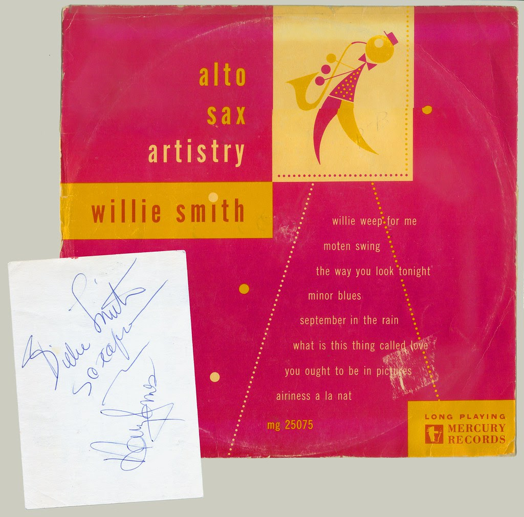 Willie Smith Album cover and autograph web s
