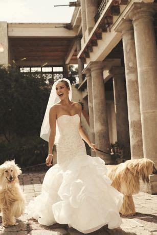 Scroll Lace Trumpet Wedding Dress   David's Bridal