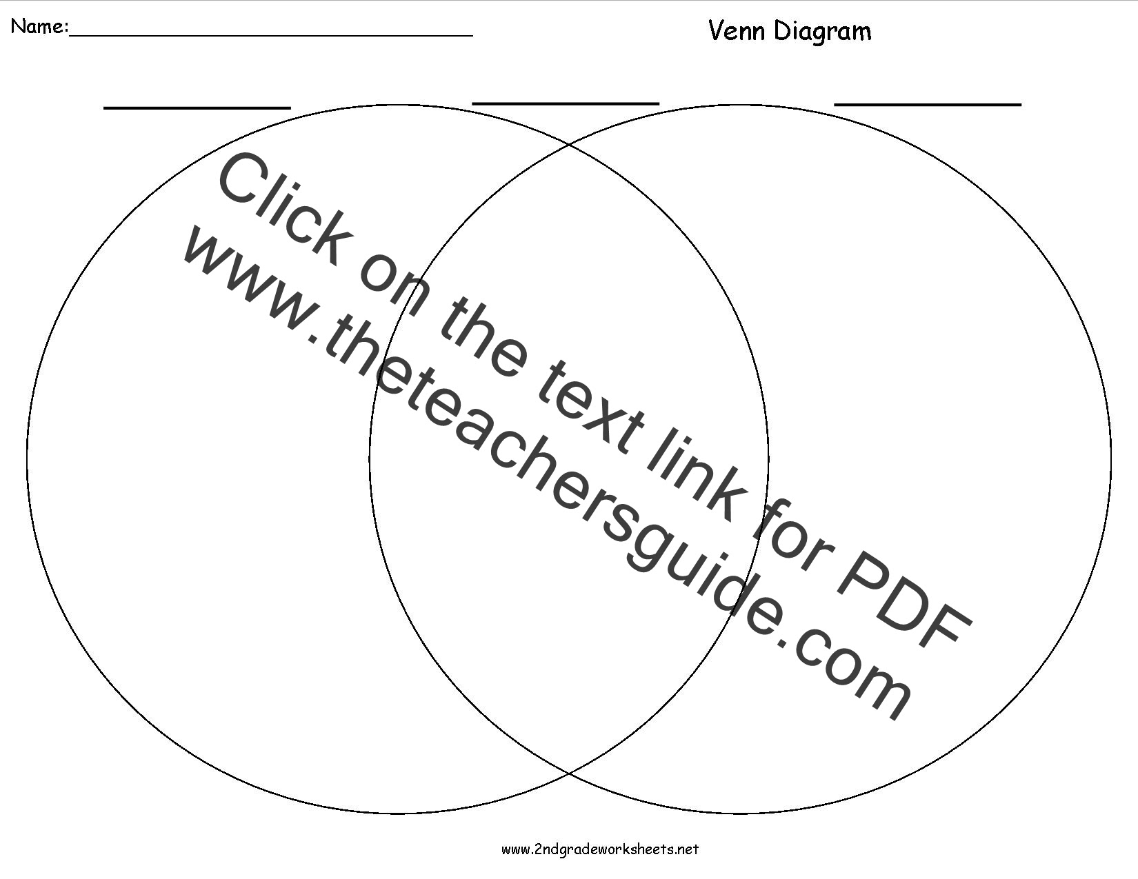 blank venn diagram printable white gold. Black Bedroom Furniture Sets. Home Design Ideas