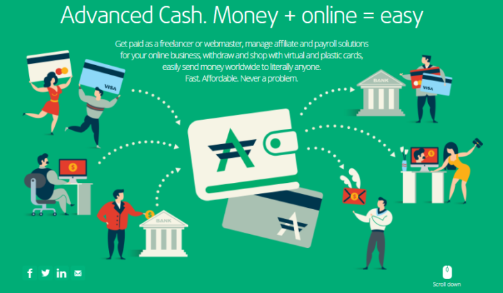 Adv Cash bitcoin debit card and payment solutions