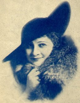 Photograph of Sophie Tucker