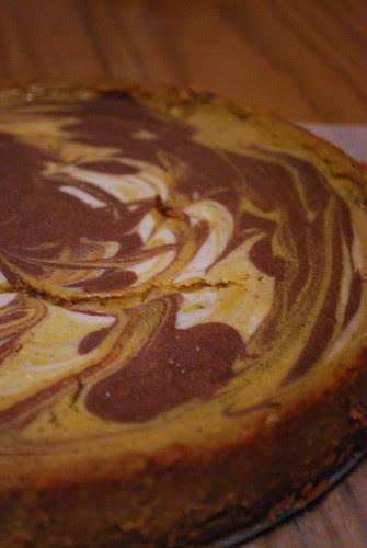 Pumpkin Cinnamon Swirl Cheesecake