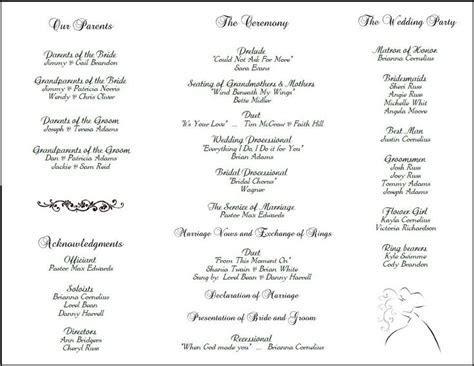 Program layout   Wedding   Pinterest   Wedding Programs