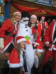 Lady Santae & Snowman - Santcon 2011 - Piccadilly Circus