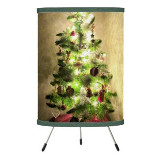 Christmas Tree Tripod Lamp