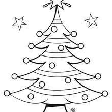 Dibujos Para Colorear Arbol De Navidad Con Estrellas Es Hellokids Com