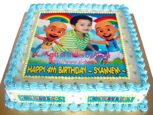 Birthday Cake Edible Image Upin Ipin