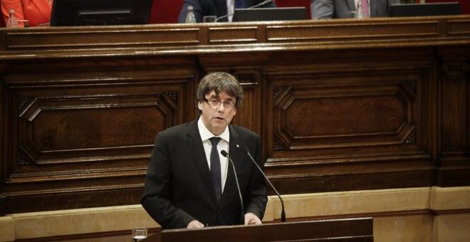 El President de la Generalitat explica al Parlament els efectes del referèndum de l'1 d'octubre / Xavier Herrero