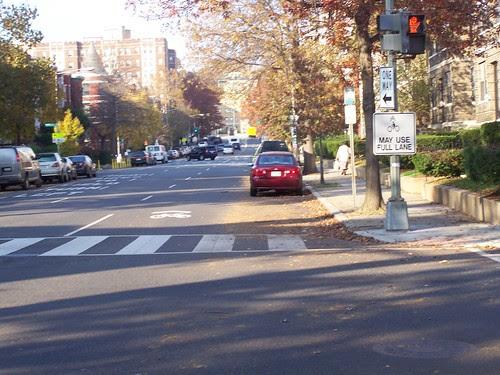 Bicycle may use full lane street street, 15th Street NW, Washington, DC