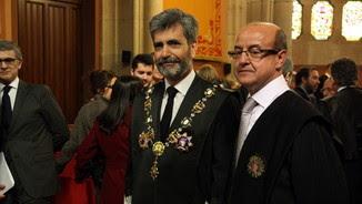 Barrientos, a la presa de posessió, amb el president del Suprem