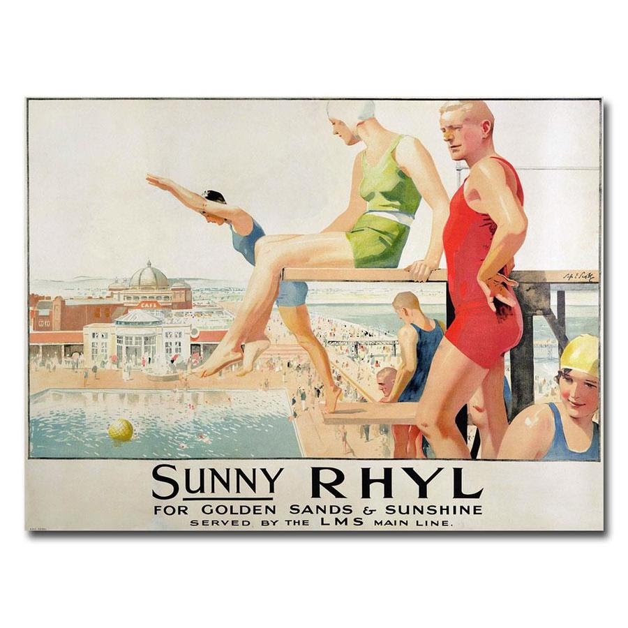 Trademark Fine Art Septimus Scott Sunny Rhyl 35x47 Canvas Art In The Wall Art Department At Lowes Com