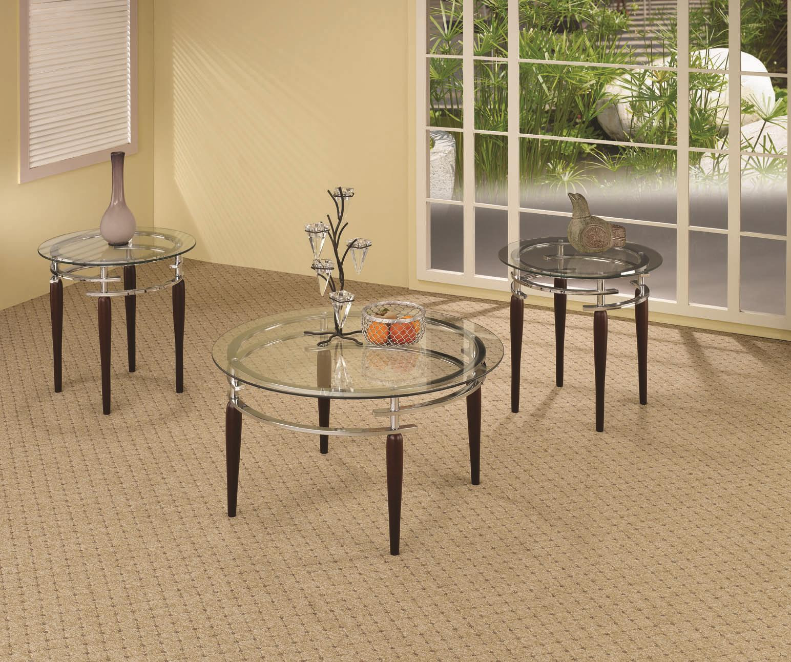 3 Piece Living Room Glass Table Set | Zion Modern House