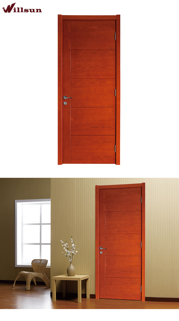 Country Style Interior Flat Wood Safety Door Design Exterior Door