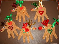 Handprint Reindeer Ornaments