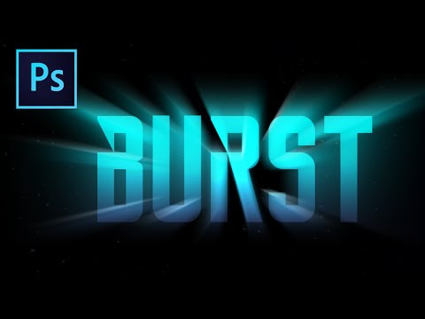 How to create Light Burst Text Effect in Photoshop video Tutorial for Beginners