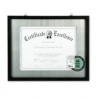 Dax N15788st Contemporary Wood Documentcertificate Frame Silver