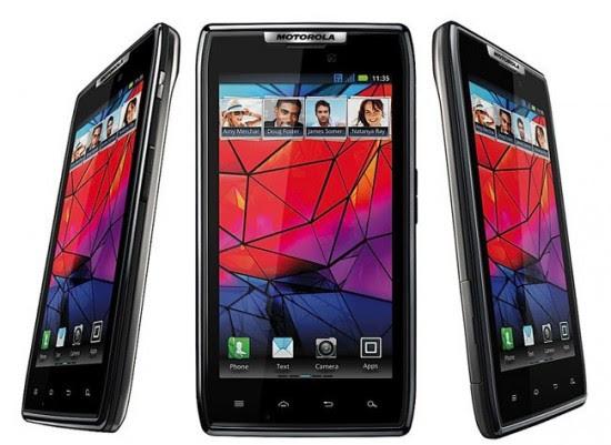 Motorola Razr 550x401 Top 10 Touchscreen Phones for 2012