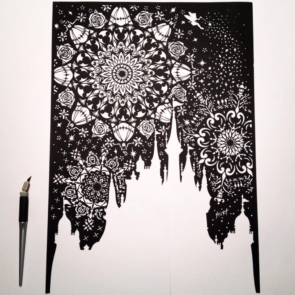 ディズニー 切り絵な夜は芋焼酎 Papercut Blog