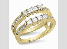 Dazzlingrock Collection 0.90 Carat (ctw) 10K Gold Princess Cut White Diamond Ladies Wedding Band