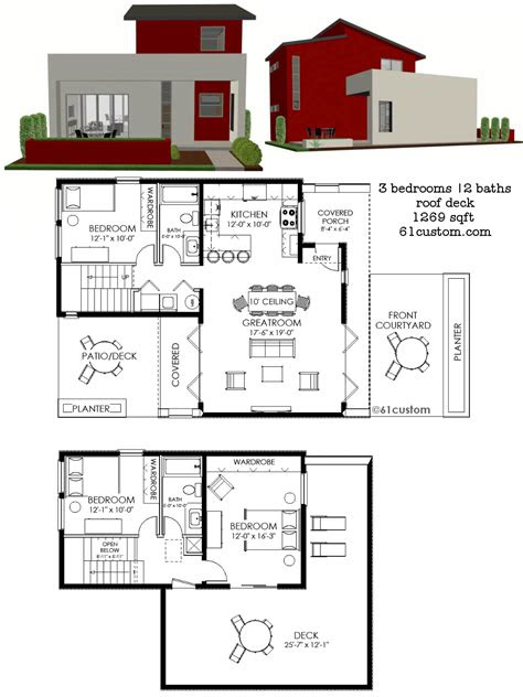contemporary small house plan custom contemporary