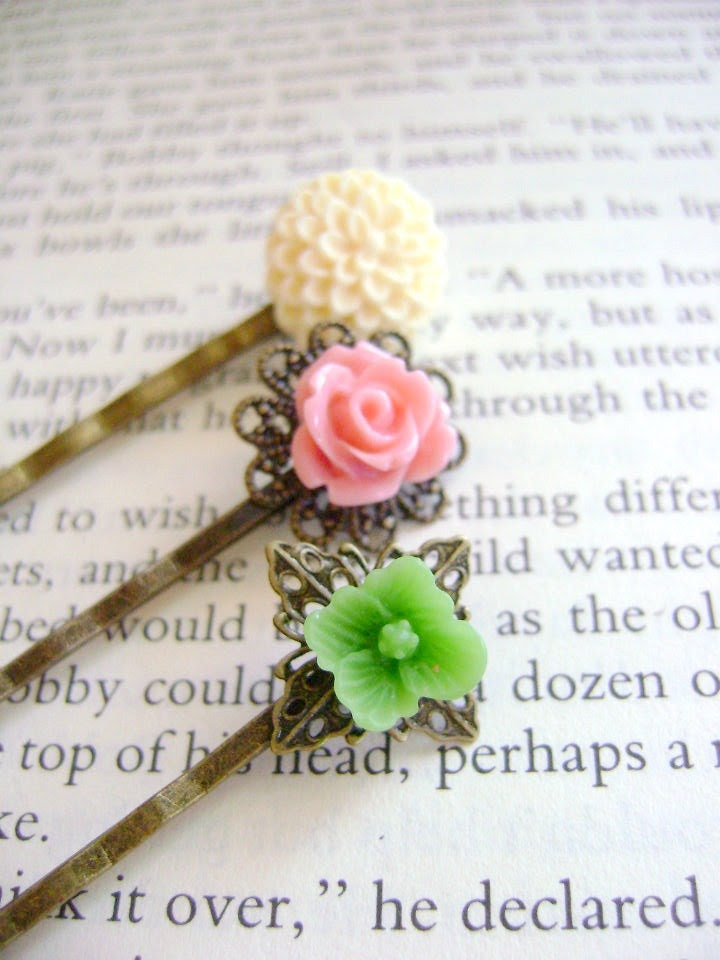 Floral Bobby Pins- Sweet Victorian