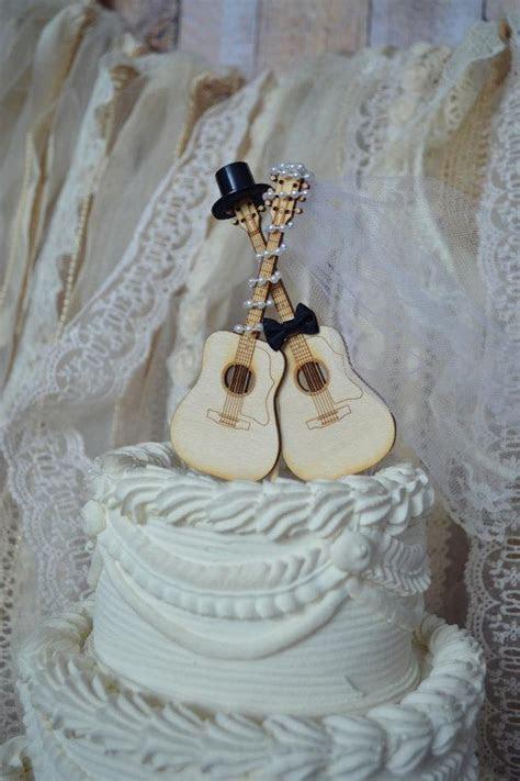 Guitar wedding cake topper musician wedding cake