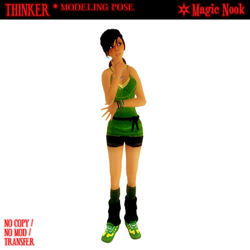 Thinker (Modeling Pose from Magic Nook)