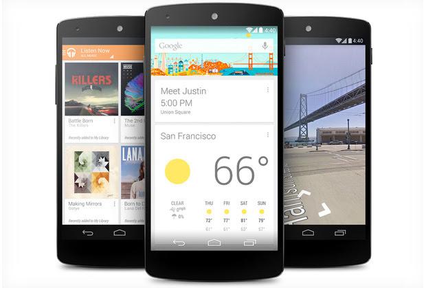 Android 4.4 Kitkat é anunciado oficialmente junto com Nexus 5 (Foto: Reprodução/The Verge)