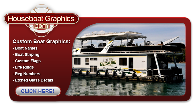 LRT Graphics | Houseboat Graphics | Houseboat Decals | Boat Decals ...