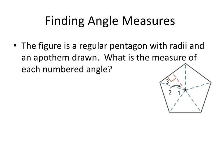 finding angle measures n