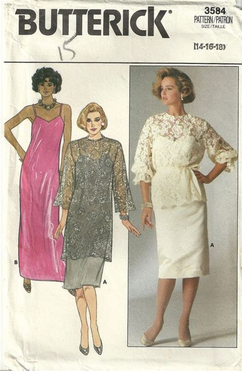 Butterick 3584 Mother of the Bride Dress Sewing Pattern
