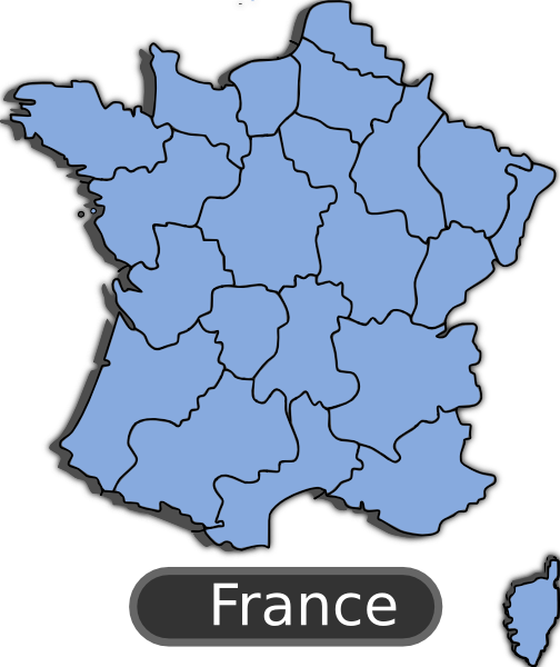 Pictures Of France Map. Map Of France clip art