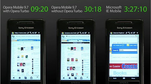 Opera Mobile 9.7 by you.
