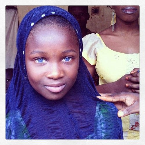 African blue eyed beauty in Northern Nigeria.Photo by: Jane Hahn