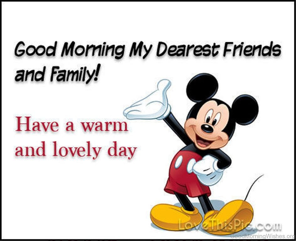11 Good Morning Wishes With Mickey