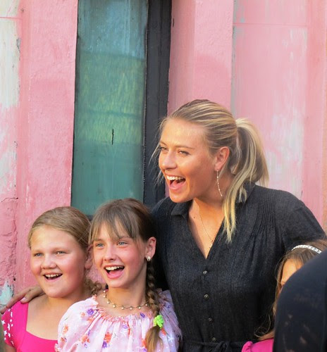 Tennis champion Maria Sharapova visiting children in Belarus2